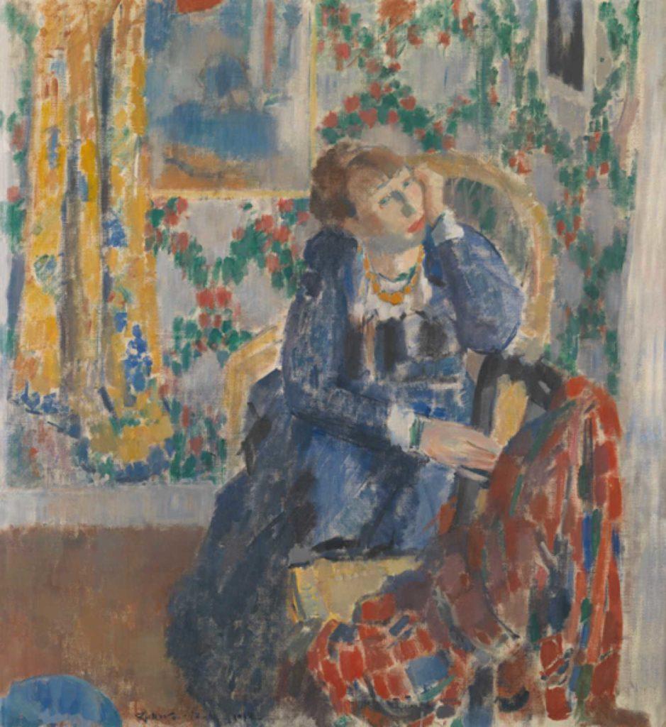 Schilderij van Rik Wouters. Portret van zijn echtgenote Nel Wouters