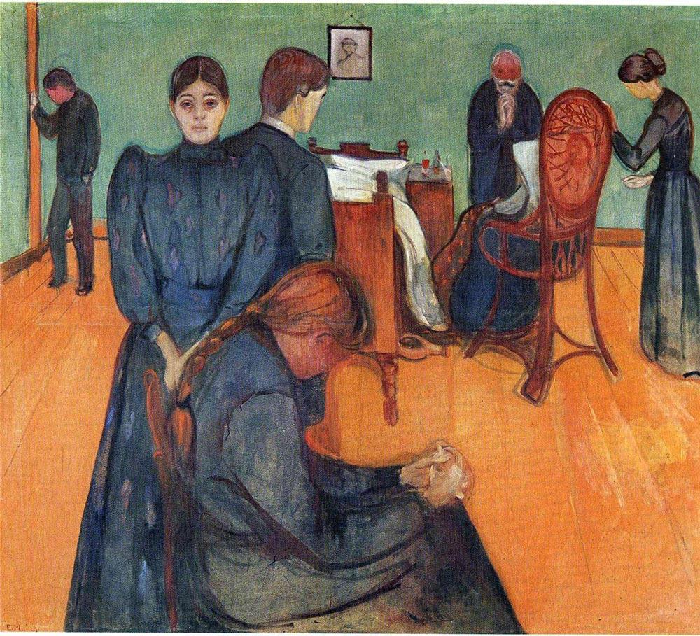 Afbeeldingen van een schilderij van Edward Munch