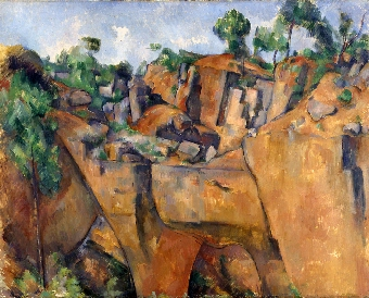 Schilderij van Paul Cézanne. In de cursussen moderne kunst van Artetcetera komt Cézanne altijd aan de beurt.