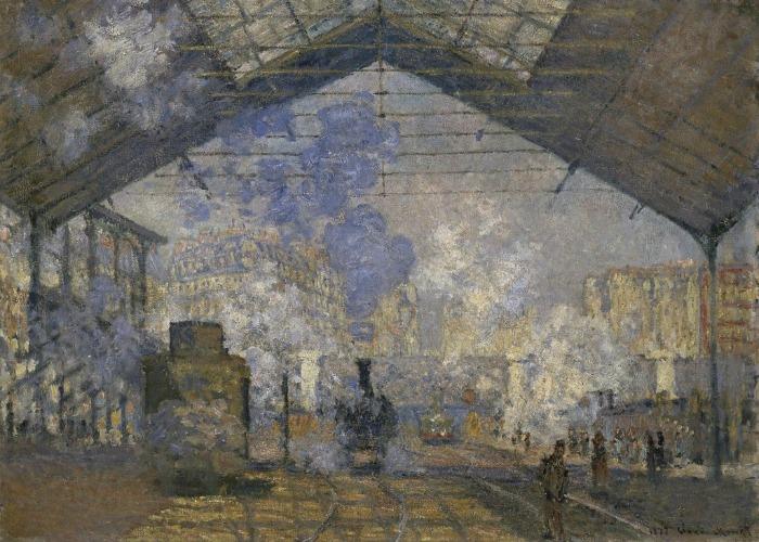 Afbeelding van een schilderij van George Hendrik Breitner met grondwerkzaamheden in Amsterdam