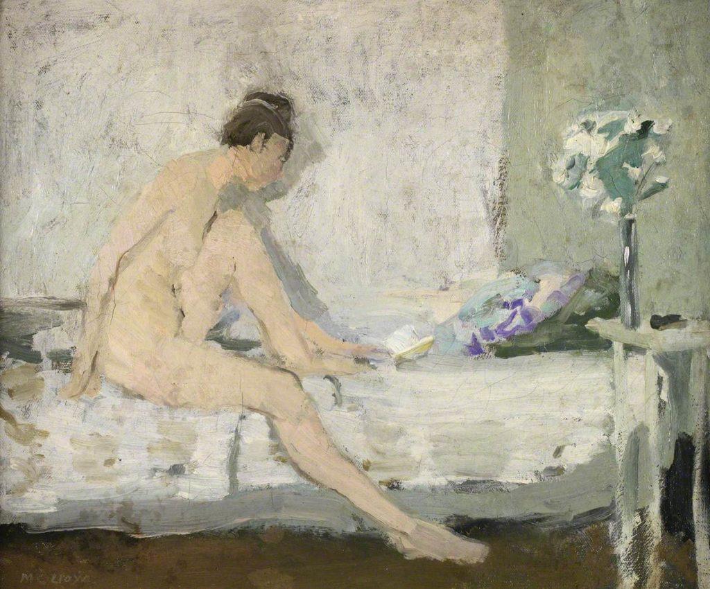Afbeelding van een schilderij van Gwen John, Zittend vrouwelijk naakt