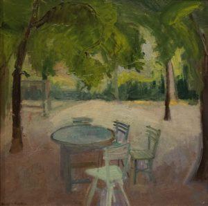 Harry Kuijten - Terras onder bomen