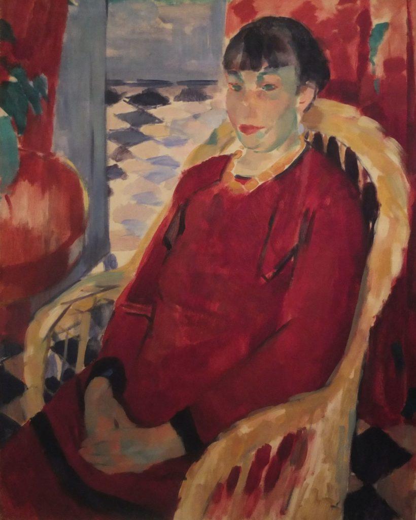 Rik Wouters, Portret van Nel Wouters, olieverf op doek