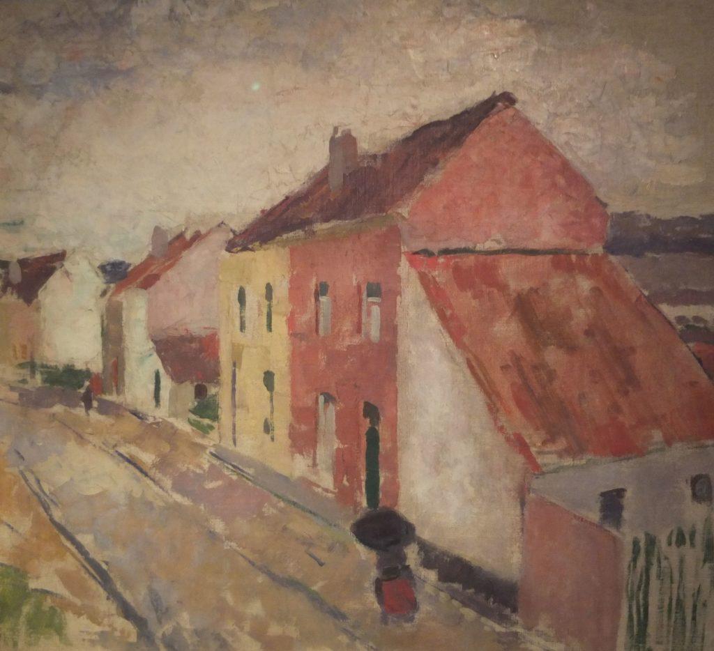 Rik Wouters, Straat en huis in Bosvoorde, nabij Brussel, 1911, Collectie stadsbestuur Mechelen, Schepenhuis