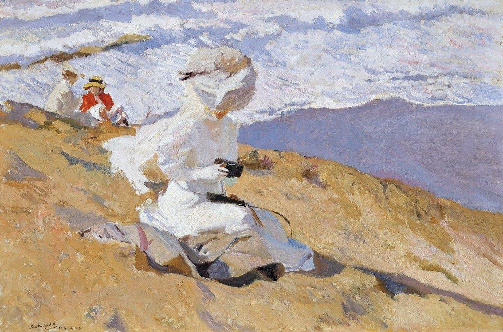 Joaquin Sorolla, Biaritz, 1906, olieverf op doek