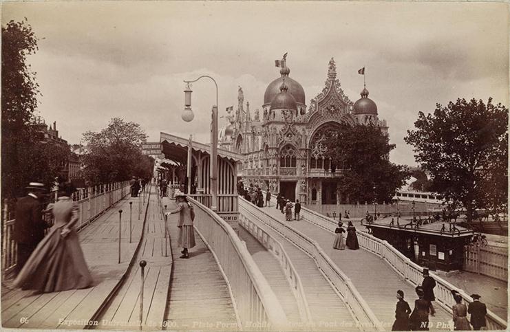 Trottoir Roulant Paris 1900 Exposition Universelle