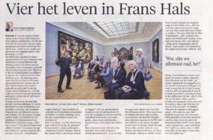 Artikel uit het Haarlems Daglad van 23 april 2016 over Vier het Leven in het Frans Hals Museum