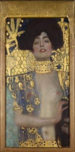 Judith, een schilderij van Gustav Klimt op de tentoonsteling in het Haags Gemeentemuseum 2016