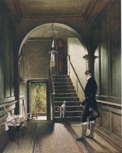 P.C. Wonder. Het trappenhuis van de Londense woning van Pieter Cornelis Wonder. 1828, Utrecht, Centraal Museum