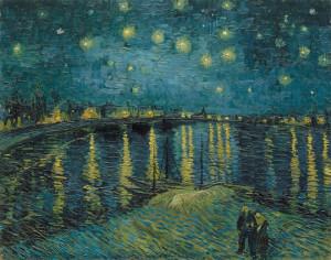 Schilderij van Vincent van Gogh, Sterrennacht. Dit iconische schilderij komt natuurlijk ter sprake in de rondleiding door Michiel Kersten op 15 januari in het Van Gogh Museum Amsterdam