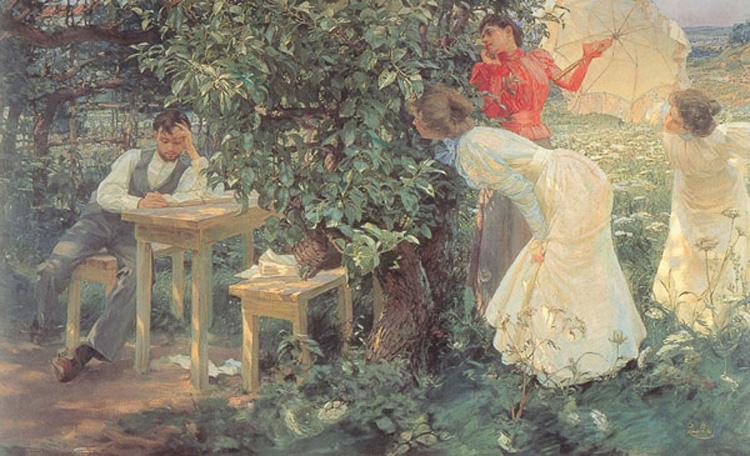 Frantisek Kupka, De boekenliefhebber, 1897, olieverf op doek